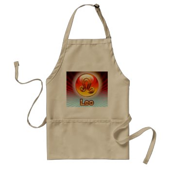 Zodiak Leo 7/23-8/22 Chefs Apron by creativeconceptss at Zazzle