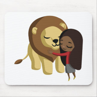 Zoe and Peanut the Lion Mouse Pad