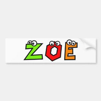 Zoe Bumper Sticker