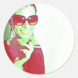Zoe Classic Round Sticker