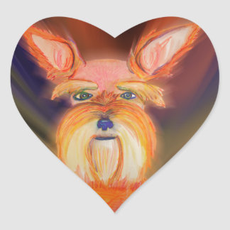 Zoe Flare Heart Sticker