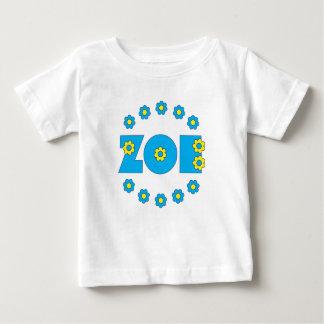 Zoe Flores Blue Baby T-Shirt