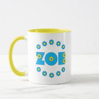 Zoe Flores Blue Mug