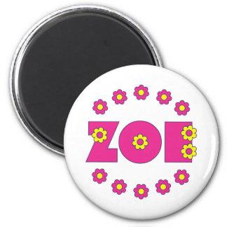 Zoe Flores Pink 2 Inch Round Magnet