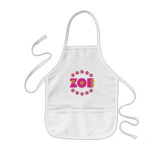 Zoe Flores Pink Kids' Apron