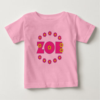 Zoe Flores Pink Baby T-Shirt