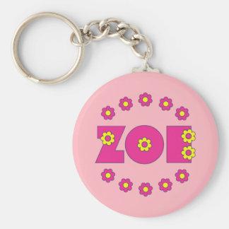 Zoe Flores Pink Keychain