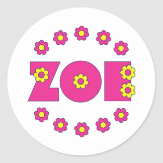 Zoe Flores Pink Stickers