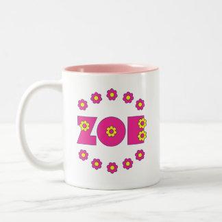 Zoe Flores Pink Two-Tone Coffee Mug