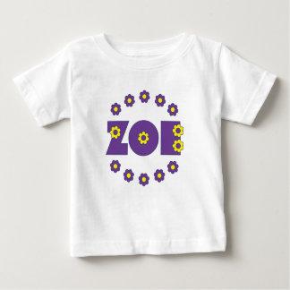 Zoe Flores Purple Baby T-Shirt