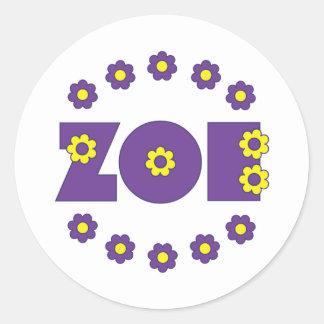 Zoe Flores Purple Sticker