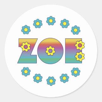 Zoe Flores Rainbow Classic Round Sticker