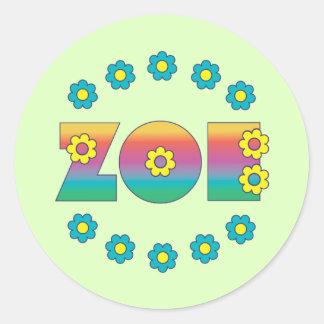 Zoe Flores Rainbow Stickers