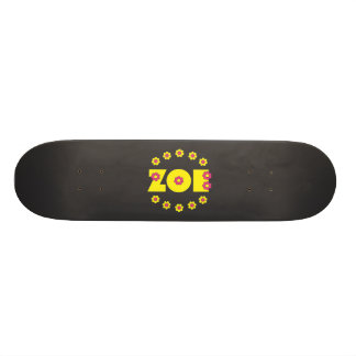 Zoe Flores Yellow Skateboard
