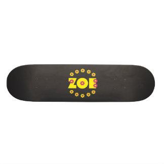 Zoe Flores Yellow Skateboard