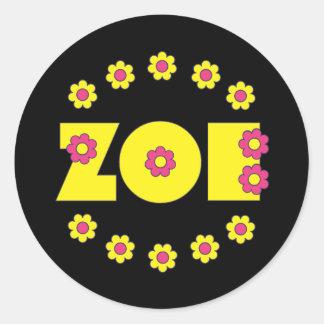 Zoe Flores Yellow Stickers