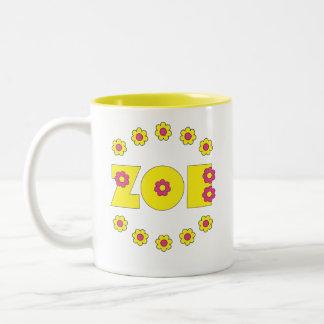 Zoe Flores Yellow Two-Tone Coffee Mug