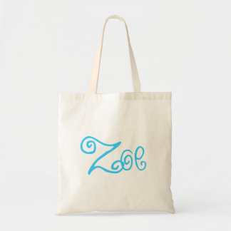 zoe - Green and White Budget Tote