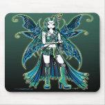 """Zoe"" Green Celetial Star Fairy Art Mousepad"