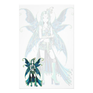 """Zoe"" Green Celetial Star Fairy Art Stationery"