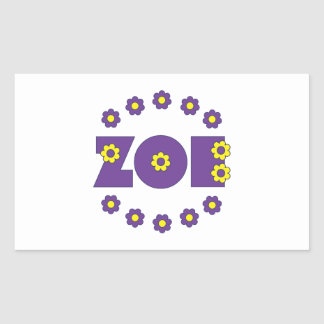 Zoe In Flores Purple Sticker