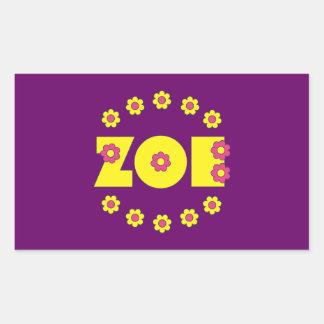 Zoe in Flores Yellow Rectangular Sticker