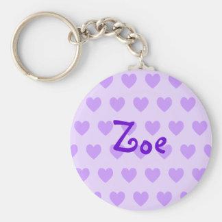 Zoe in Purple Keychain
