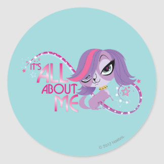 Zoe: It's All About Me Classic Round Sticker