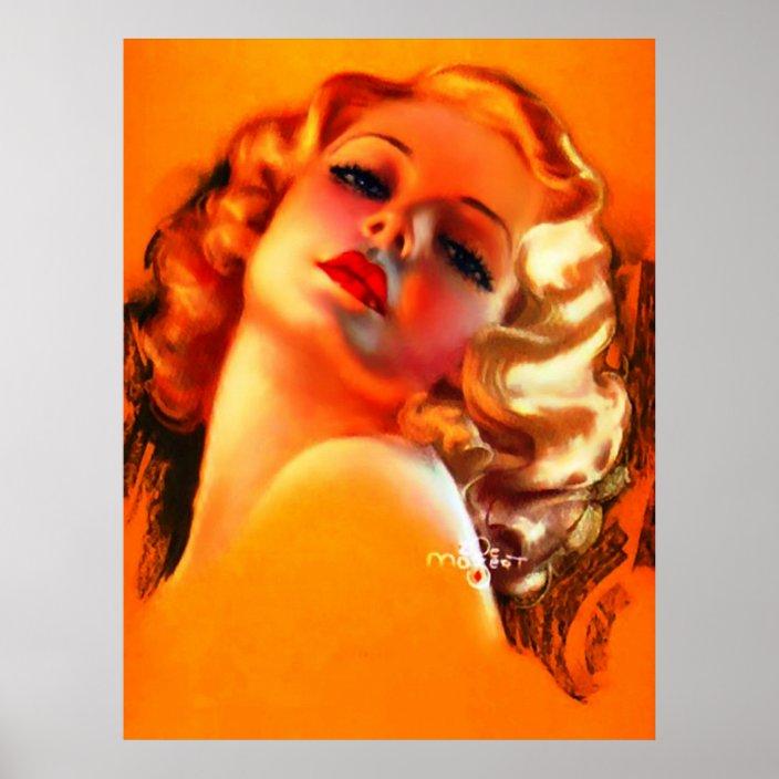 ZOE MOZERT - 1940s art illust PIN-UP/CHEESECAKE mutoscope