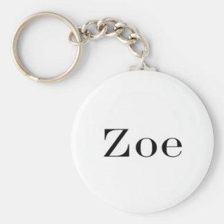 Zoe Name Key chain