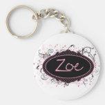 Zoe Nameplate Key Chain