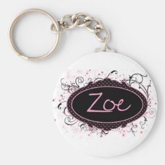 Zoe Nameplate Keychain