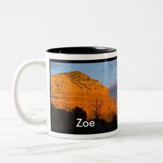 Zoe on Moonrise Glowing Red Rock Mug