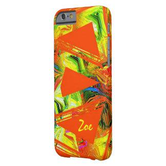 Zoe orange style iPhone 6 case