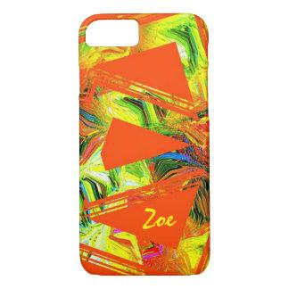 Zoe orange style iPhone 7 case