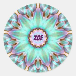 ZOE ~ Personalised Paua Shell Sticker Fractal ~