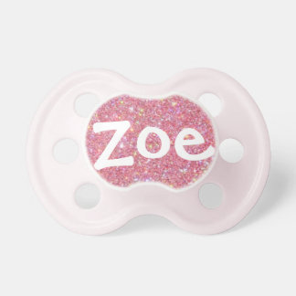 """Zoe"" Personalized Name Sparkle Pacifier"