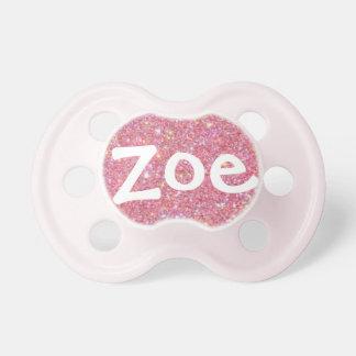 """""""Zoe"""" personalizó el pacificador conocido del bril Chupetes Para Bebes"""