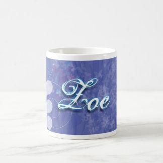 Zoe personalizó la taza