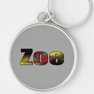Zoe Premium Round Keychain