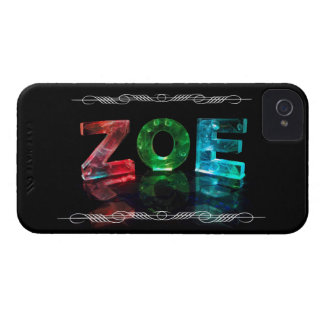 Zoe  - The Name Zoe in 3D Lights (Photograph) Case-Mate iPhone 4 Case