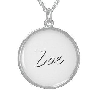 Zoe white necklace