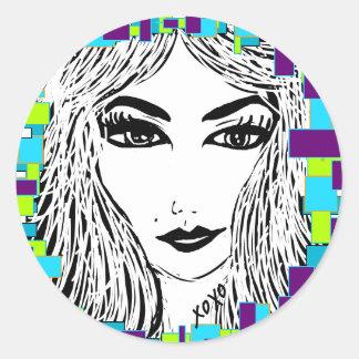 Zoe Xo Apparel Classic Round Sticker