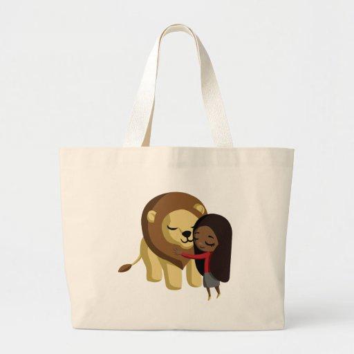 Zoe y cacahuete el león bolsa de mano
