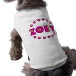 Zoey en el rosa de Flores Playera Sin Mangas Para Perro