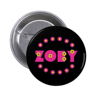 Zoey Flores Pink Pin