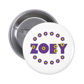 Zoey Flores Purple Pin