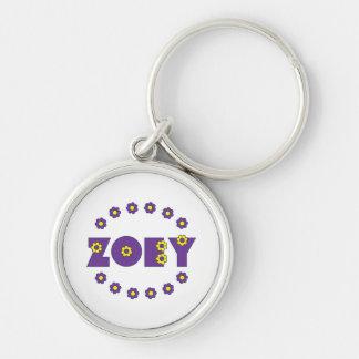 Zoey Flores Purple Key Chains