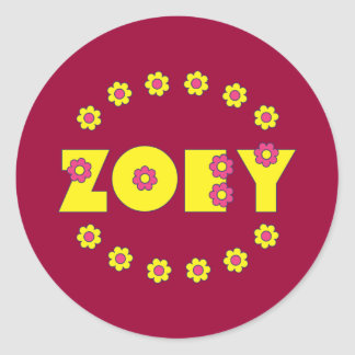 Zoey Flores Yellow Classic Round Sticker