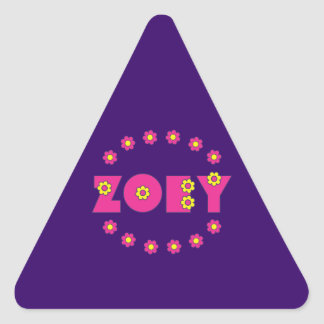 Zoey in Flores Pink Triangle Sticker